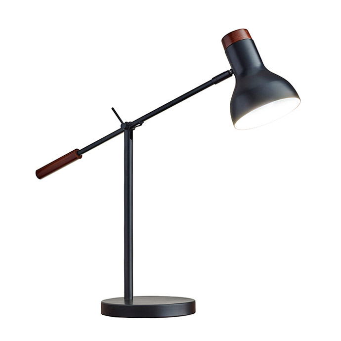 Wilson Matte Black Modern Desk Lamp