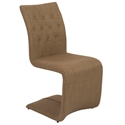 Zeller Mocha Contemporary Dining Chair
