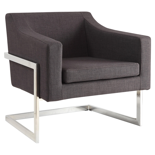 Shaw Modern Lounge Chair in Grey