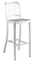 Cafe Modern Aluminum Bar Stool