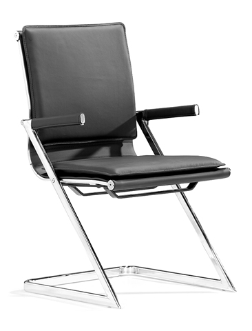 Lamar Black Modern Conference Chair