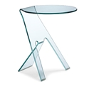 Justine Modern Glass Side Table