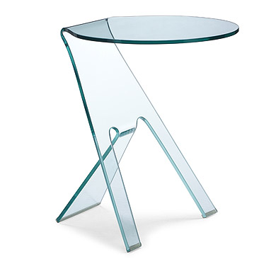 Journey Modern Glass Side Table