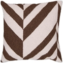 Diagonal Modern Accent Pillow in Ivory/Brown