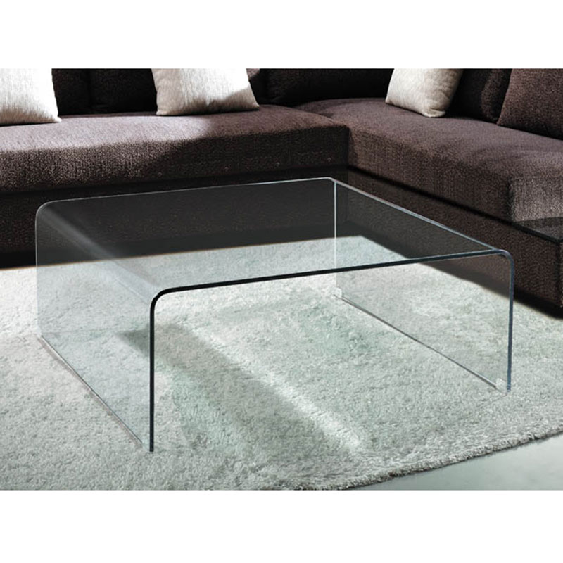 ... Abbott Square Glass Coffee Table - Abbott Modern Square Cocktail Table Eurway Furniture