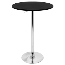 "Arthur 23"" Black Adjustable Bar Table"