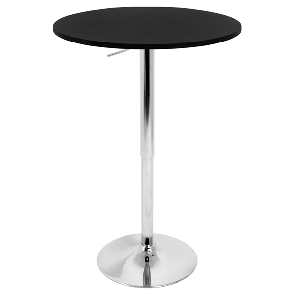 "Arthur 27"" Black Adjustable Bar Table"