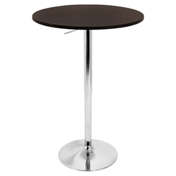 "Arthur 23"" Brown Adjustable Bar Table"