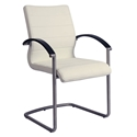 August Modern Arm Chair in Off White and Wenge
