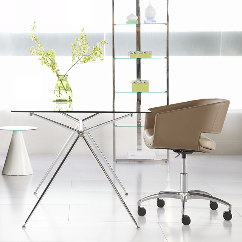 office dining table. Atlanta Modern Glass Dining Table Or Desk Office