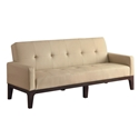 Andorra Modern Sofa in Cream Vinyl