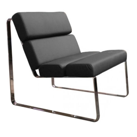 Annie Modern Lounge Chair in Black