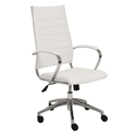 alex high back office chair in white