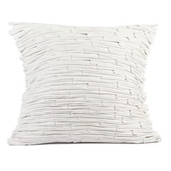 Bamboo Faux Leather Pillow