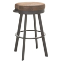 Bryce Bar Stool in Oxidado and Coconut by Amisco