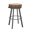 Bareli Counter Stool in Oxidado and Coconut