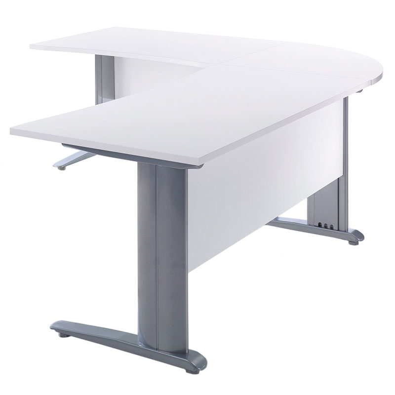 Bavaria White L Shaped Desk