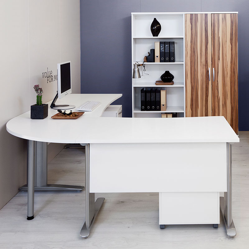 Bavaria L Desk In White