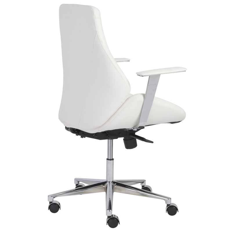 white modern office chair. Bedford Modern Low Back Office Chair Eurway Furniture White