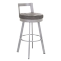 Belfast Bar Stool in Platina and Anis