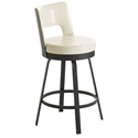 Brock Bar Stool in Black Coral and Eggshell by Amisco