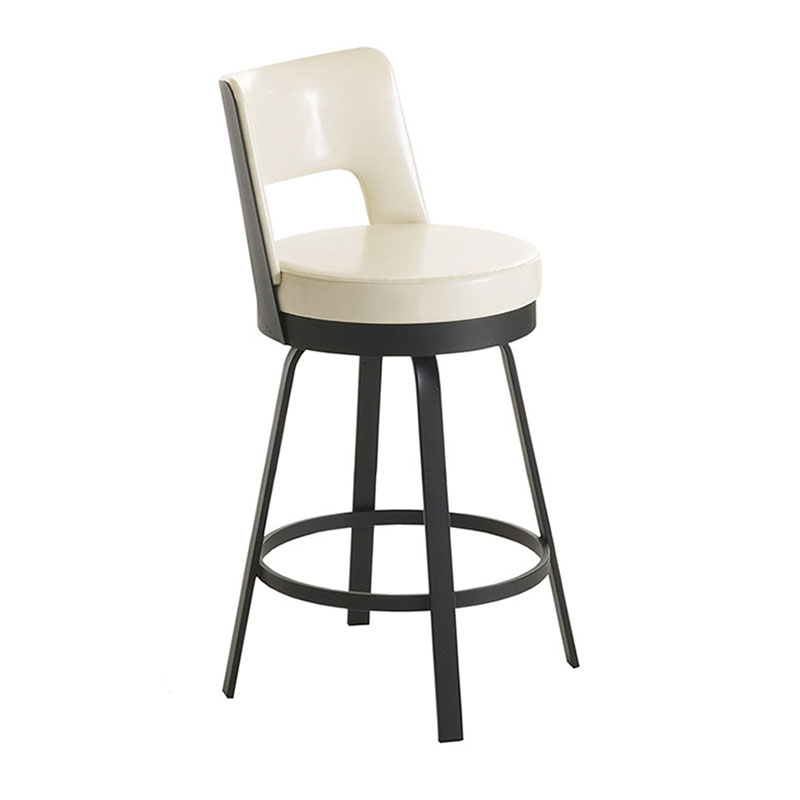 Benson Counter Stool in Black Coral and Eggshell