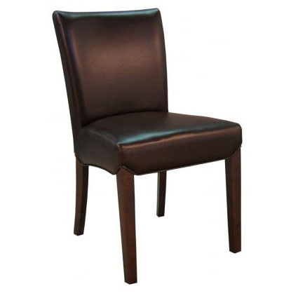 bev dining chair in coffee bean