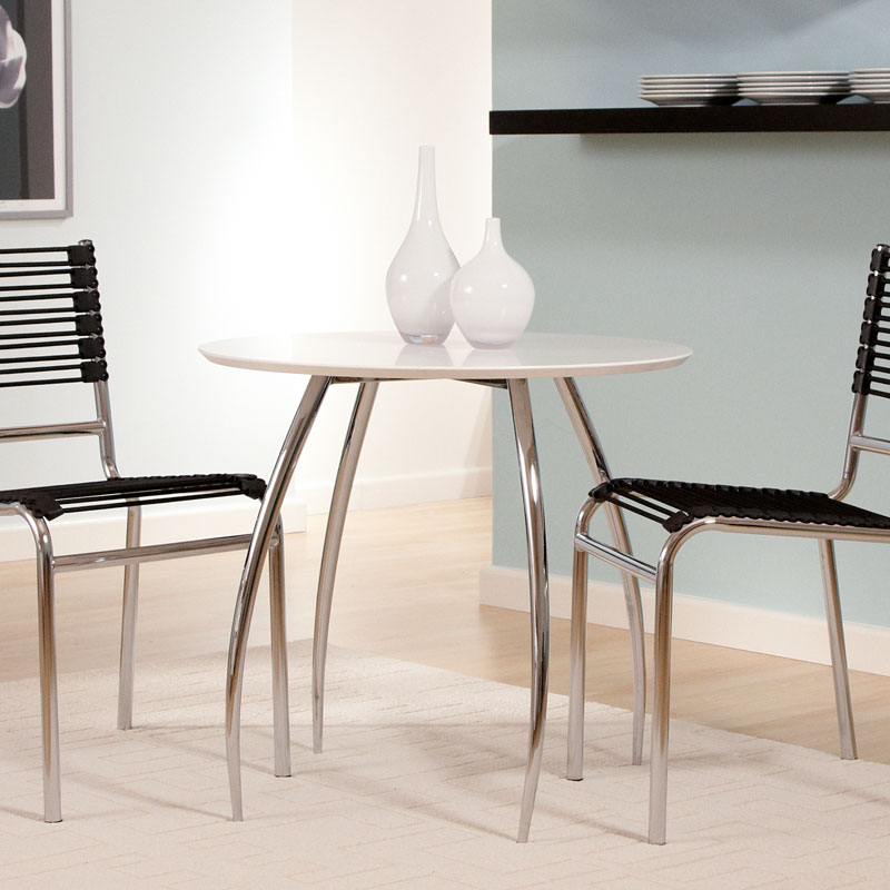 Biloxi Modern Dining Table in White