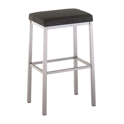 Bradley Counter Stool - Titanium / Onyx by Amisco