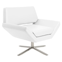 carl modern lounge chair in white