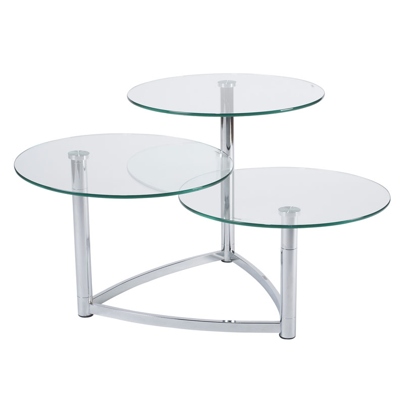 Cascade 3 Tier Swivel Table Modern End Tables Eurway