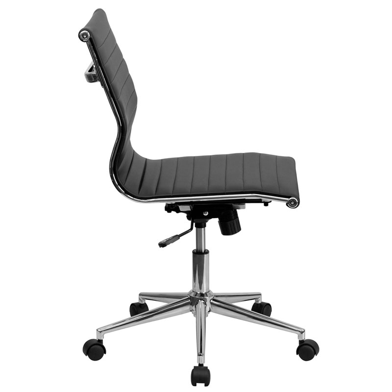 Channel Conference Chair in Black - Side View