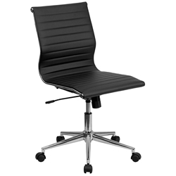 black desk chair. Channel Conference Chair In Black Desk