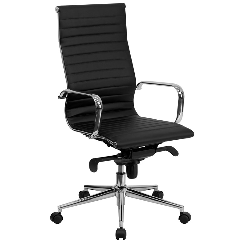 Delightful Channel High Back Office Chair In Black