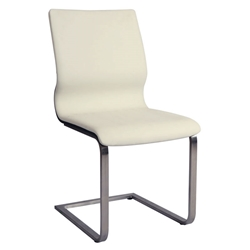 Charlie Modern Ivory + Wenge Dining Chair