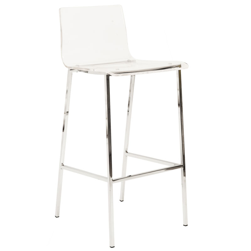 contemporary clear acrylic bar stools stool with back modern chandler