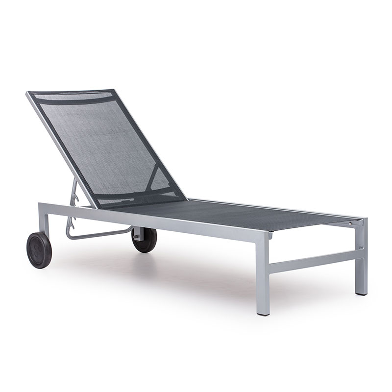 Clarksville outdoor chaise lounge eurway modern furniture for Black metal chaise lounge outdoor