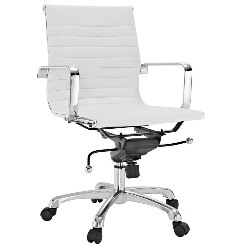 Classic Low Back Office Chair In White | Eurway Furniture