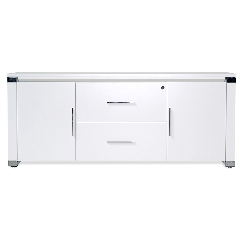 White office credenza Long White Call To Order Copenhagen 500 Collection Modern Credenza In White Eurway Copenhagen 500 Collection Credenza By Unique Eurway