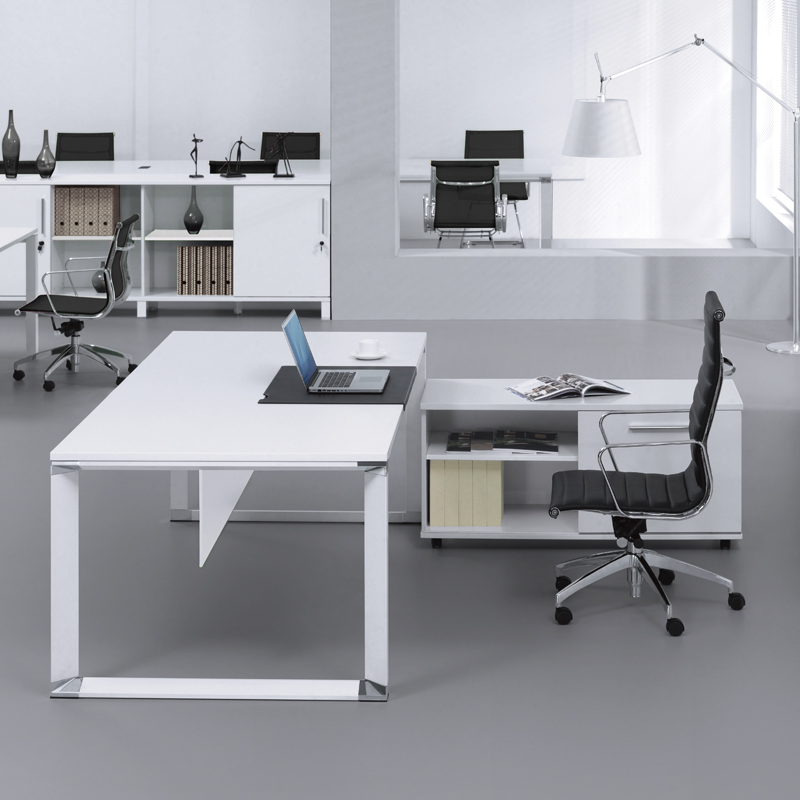 most white both shaped desk chair with splendid computer insight l office on executive furniture sides drawers