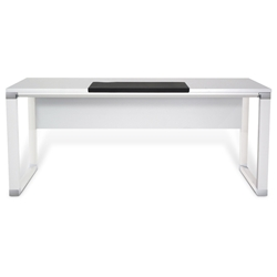 Modern White Desks - Copenhagen 500 Collection White Executive Desk