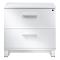 Copenhagen 500 Collection Modern Lateral File Cabinet in White