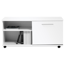 Copenhagen 500 Collection Modern Mobile Cabinet in White