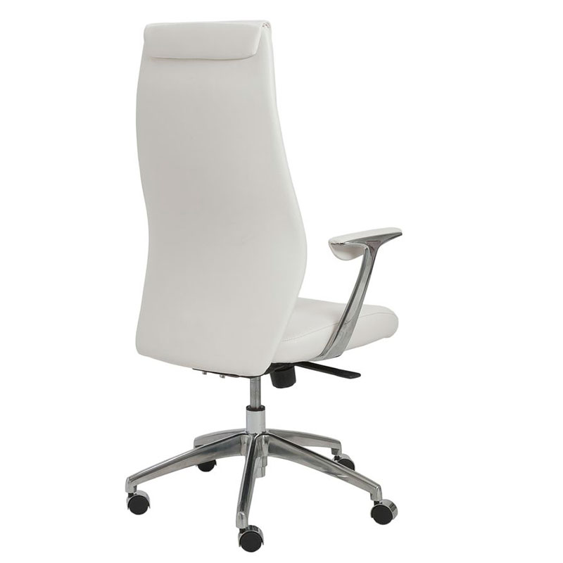 White Modern Desk Chair High Back Office In Decorating Ideas