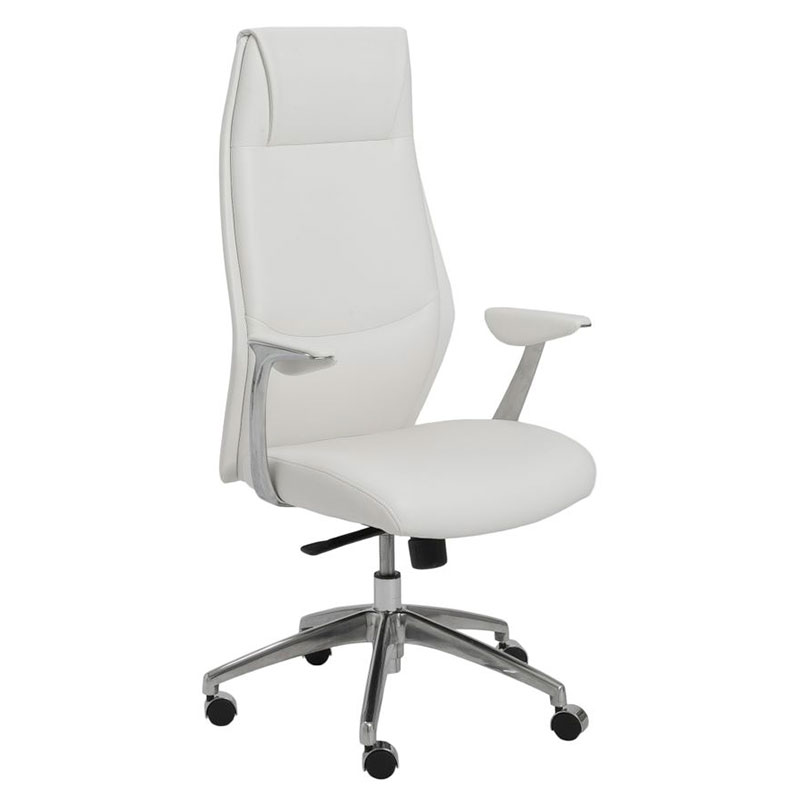 White Modern Desk Chair Whitevan