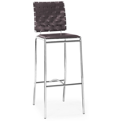 Criss Cross Modern Bar Height Stool