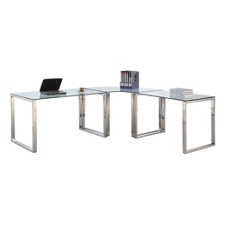 Contemporary Desks - Crowley Modern L-Desk Set