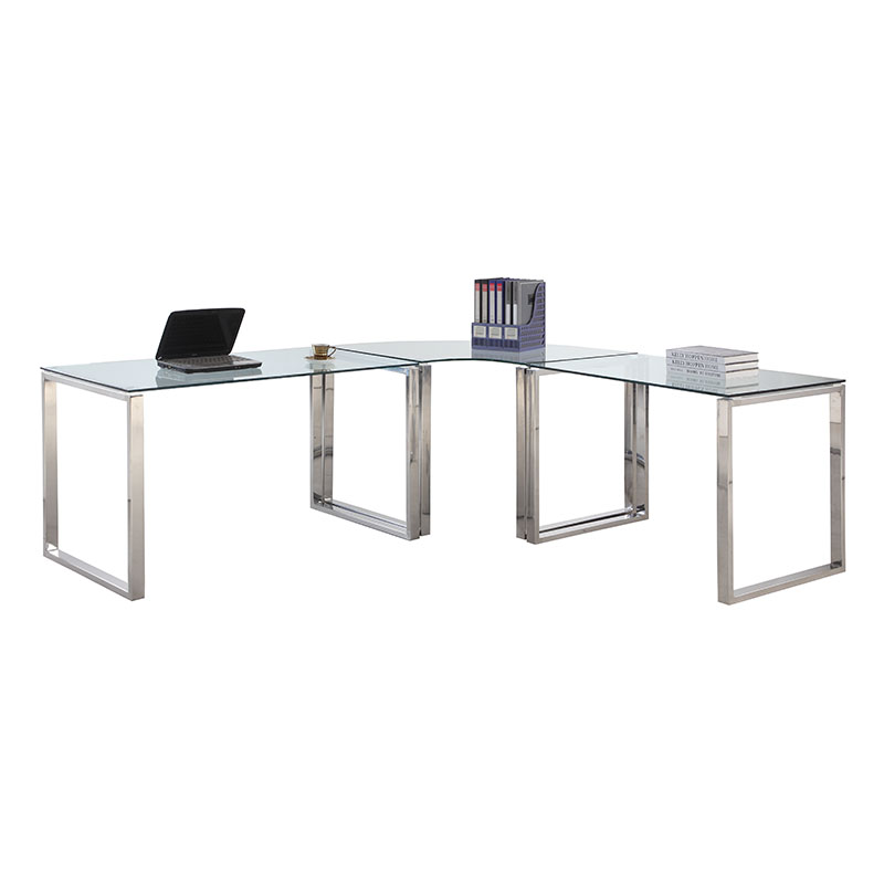 clear glass furniture. Call To Order · Contemporary Desks - Crowley Modern L-Desk Set Clear Glass Furniture