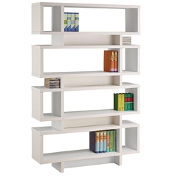 Cubic Modern White Bookcase