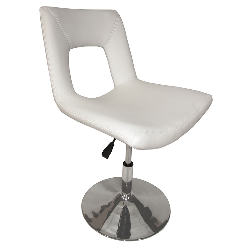 Darrell Modern Height Adjustable Dining Chair in Ivory